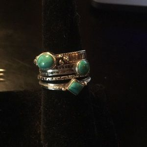 Turquoise & Sterling Stackable Rings